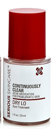 Serious Skin Care Continuously Clear Acne Medication for Problematic Skin DRY Lo Spot Treatment 1 Fl. Oz. / 29 Ml