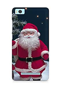 Amez designer printed 3d premium high quality back case cover for Xiaomi Mi5 (Santa claus gifts christmas trees stars snow)