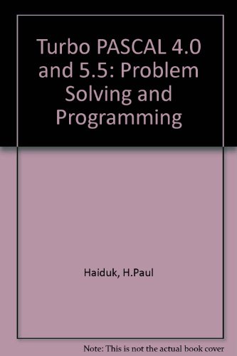 Object-Oriented Turbo Pascal Problem Solving and Programming/Book and Disks
