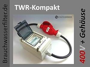 SWISSNOX TWRBOX 16 mit 16A DREHSTROMSTECKER!!! LCD Drehstromzähler + Gehäuse + Anschlüsse Wattmeter Stromzähler Hutschiene Energiezähler Schaltkasten kWh Wattzähler TW auch f. Wohnwagen, Wohmobile, Caravan  GartenÜberprüfung und weitere Informationen