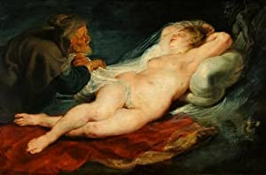 Angelica and the Hermit by Peter Paul Rubens Wall Mural - 36 Inches W x 24 Inches H - Peel and Stick Removable Graphic