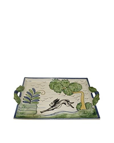 CE Cory Le Lapin Two Handle Tray, Multi