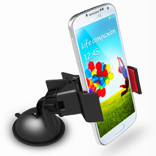 Monster Grip Universal Super Power Suction Technology Windshield Dashboard Car Mount Holder for Galaxy S4 S3 Note 2 iPhone 5 5S 4S 4 6 Galaxy S4 Mini GT-i9195, Galaxy S4 Active SGH-i537, Nexus 5 , HTC One M7, HTC One Mini M4, Note 3, S5, iPhone 6, Lumia 9