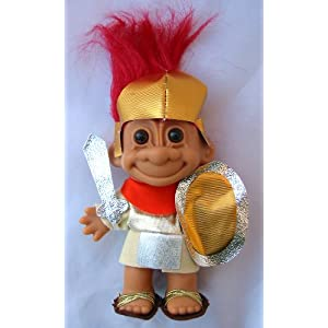 My Lucky Troll SPARTICUS Troll Doll (Red Hair)