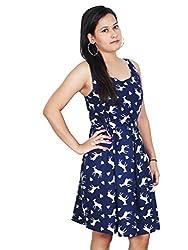 Polita Gathered dark Blue Women's dress