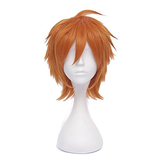 Anime Orange Haikyuu!! Hinata Syouyou cosplay Perücke Halloween Manga 30cm +Cap