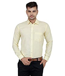 Frankline Men's Formal Shirt (Frankline-82_ Yellow _44)