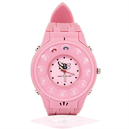 Tbs3202® New Generation Kids Wrist Watch Phone With Real Gps Tracker /Children Safe Security/ Sos Surveillance/Audio Remote Monitor For Girl (Pink)