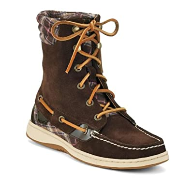 Sperry Women's Hiker Fish, Brown Suede/Patent-5