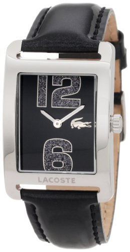 Lacoste 2000677 32 Stainless Steel Case Black Leather Women's Watch