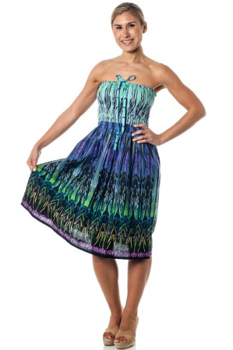 One size fits most Tube Dress Coverup Tribal
