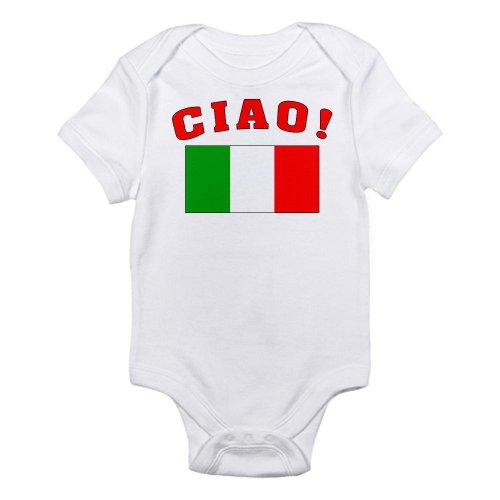 Cafepress Ciao Italia Italy Flag Infant Creeper Infant Bodysuit - 0-3M Cloud