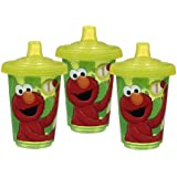 Munchkin 3 Pack Sesame Street Re-Usable Twist Tight Spill-Proof Cups, 10 Ounce, Colors May Vary (Discontinued by Manufacturer)