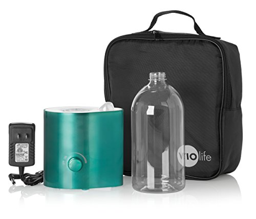 Violife VMH100KIT Personal Humidifier with Pouch and Water Bottle, Teal Metallic - 1