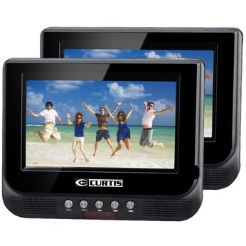 Curtis DVD8737UK 7 ' Twin Dual portable black in car DVD player Black Friday & Cyber Monday 2014