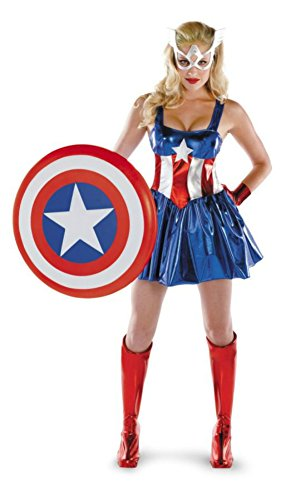 Disguise Womens Marvel Captain America Sexy Dress Halloween Themed Party Costume