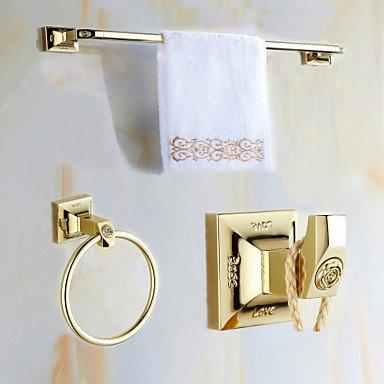 SHENCHI Set di accessori per il bagno OroOttone Antico