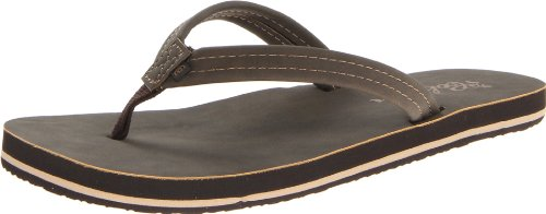 Brown Leather Flip Flops For Women front-691056