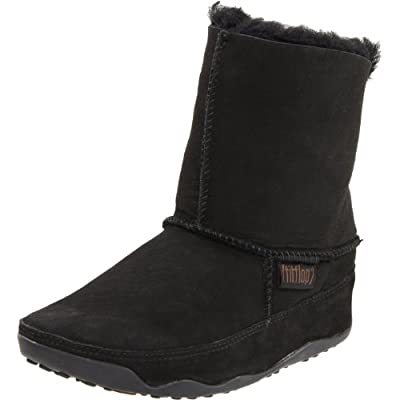 Fitflop Mukluk Black Suede Boots