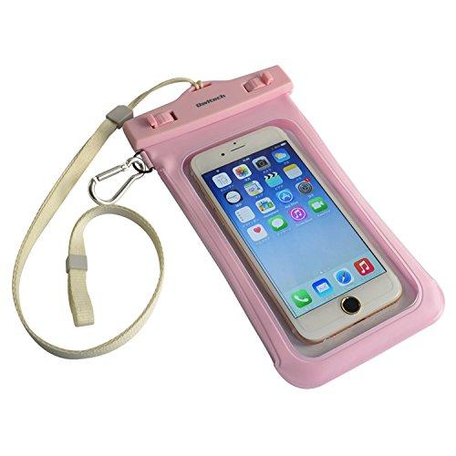 オウルテック 防水・防塵ケース もしもの時でも安心メーカー保証 iPhone 6s / 6sPlus等対応 最高級保護レベルIP68取得 ネックストラップ カラビナ付 ピンク