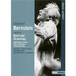 Leonard Bernstein conducts Bach an Stravinsky [Reino Unido] [DVD]