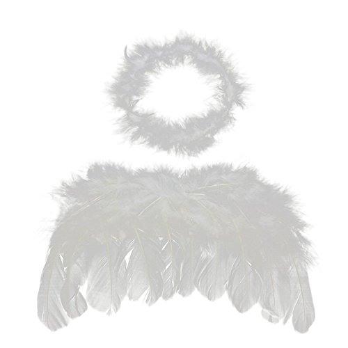 niceEshop(TM) Baby Angel Wings Free Halo Full Fluff Feather Cupid Props