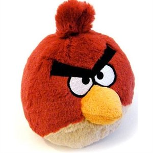 Peluche angry bird rouge