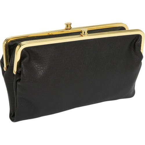 Urban Expressions Womens Vegan Leather Sandra Clutch Wallet (Black)