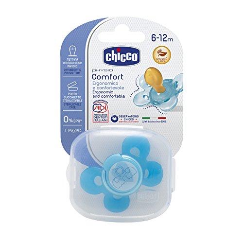Chicco 00074903210000 Comfort Boy Succhietto Caucciù, Arancione, 6-12 Mesi