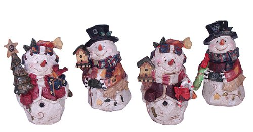 Club Pack of 12 Vintage Country Rustic Christmas Snowman Figures 6