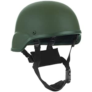 Military Tactical US Combat Helmet MICH Head Protection Fiberglass Olive Green from Mil-Tec