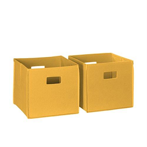 RiverRidge 02-061 2-Piece Folding Storage Bin, Golden Yellow