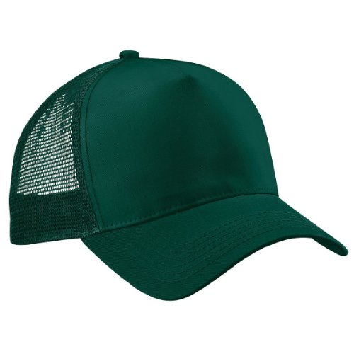 Beechfield Snap-Back Trucker Cap ONE SIZE COLOUR Bottle Green/Bottle Green