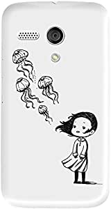 DailyObjects Girl And The Jellyfish Case For Motorola Moto G