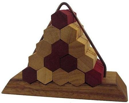 Cheap Winshare and Games Beehive Pyramid Wooden Puzzle Brain Teaser (B005IDO74Y)