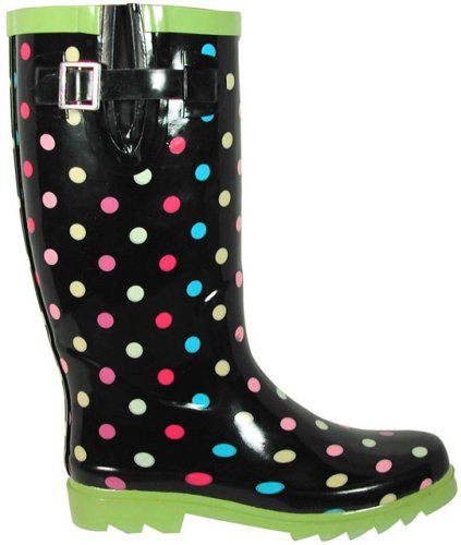 Innovative Capelli New York Black Polka Dot Rain Boot  Women  Zulily