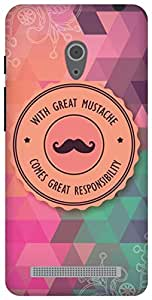 The Racoon Grip With Great Mustache hard plastic printed back case/cover for Asus Zenfone 6 A600CG/A601CG