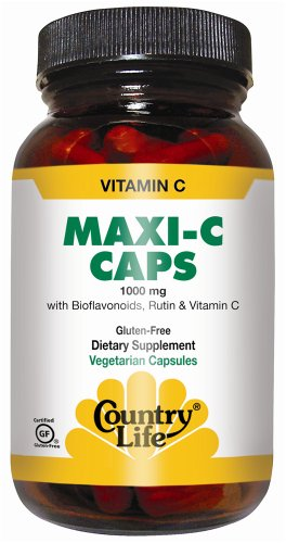 Country Life - Maxi C-Complex Vitamin C Time Release 1000 Mg. - 90 Vegetarian Capsules