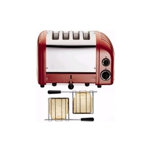 Dualit 2 x 2 Combi Vario 4 Slice Toaster Red Dimensions: 220(H) x 360(W) x 210(D)mm