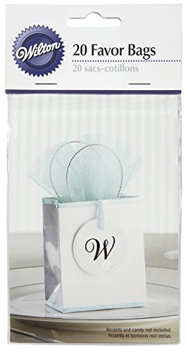 Wilton 10065311 Mini Favor Bag, White, 20-Pack - 1
