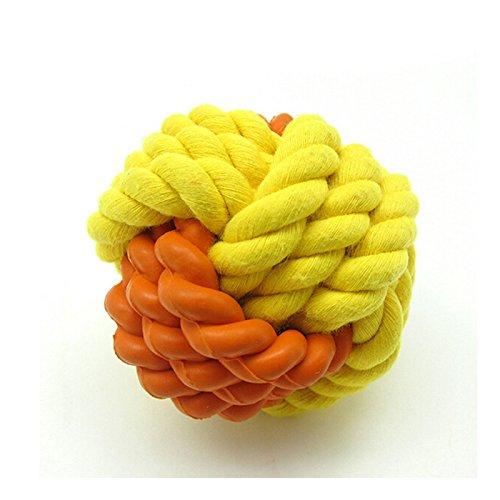 Artikelbild: SymbolLife Hunde Baumwoll-Seil / Rubber Ball Haustiere Smarter Interactive IQ Futterball kauen Hundespielzeug Hund Katze Kauspielzeug - Dia 2in Hundespielzeug