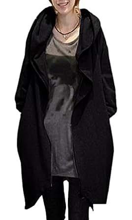 (ボヌール)BONHEUR ポンチョ 風 コート レディース ドルマン 袖 大人 きれいめ ゆったり 黒 M サイズ