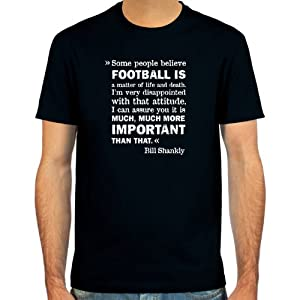 T-Shirt Bill Shankly ::: Colour: black, olive or navy ::: Sizes: S-XL (football) from fcspielraum.de