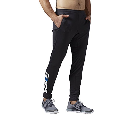 Reebok - Pantaloni da allenamento da uomo One Series Knit Trackster Pants, Uomo, Trainingshose One Series Knit Trackster Pants, nero, L