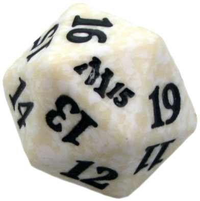 M15 White D20 Spindown Lifecounter MTG Magic - 1