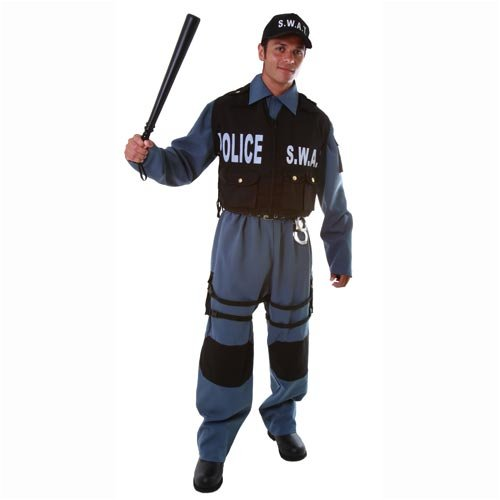 Deluxe Adult S.W.A.T. Police Officer Costume Set