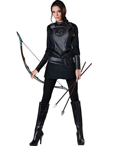Warrior Huntress Adults Costume with Leggins and Bow & Arrow Set