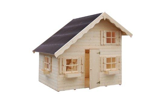 Kinderspielhaus Holz Greenseason ~ Kinderspielhaus Heidi 220 x 180 cm aus Holz unbehandelt mit Dachnische