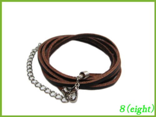 5 leather bracelet leather Bangle (Brown) [wear - 0 - shoes]