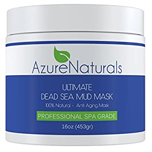 ULTIMATE Dead Sea Mud Facial Mask 100% Pure 16 oz Spa Size, Skin Cleanser, Clarifier, Detoxifier and Natural Moisturizer. This Restorative Anti-Aging Mask Improves Overall Complexion, Aids in Reducing Acne, Blemishes and the Appearance of Fine Lines & Wri